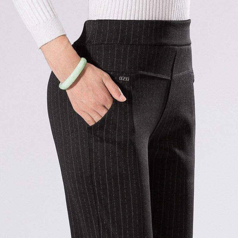 Summer Women's Pants Women High Waist Women Pants Casual Pencil Pants Striped Print Women's Trousers  Pantalon Femme 5xl