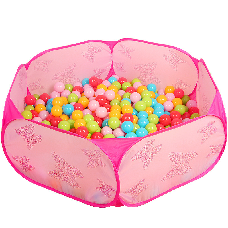 New Style Butterfly Pattern Baby Kids Ball Pool Pit Portable Outdoor Garden Kids Game Play House Safe Play Tents Without Balls