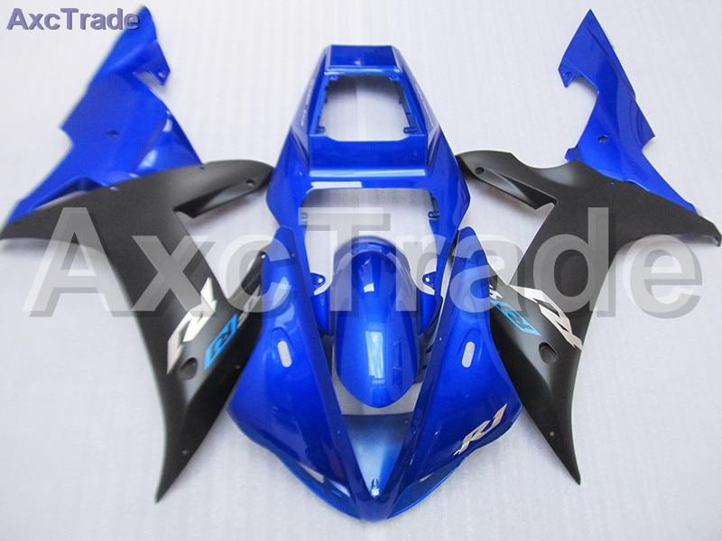 Blue Black Moto Fairing Kit For Yamaha YZF1000 YZF 1000 R1 YZF-R1 2002 2003 02 03 Fairings Custom Made Motorcycle Bodywork C684