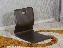 (6pcs/lot) Home Living Room Furniture Japanese Style Floor Seating Coffee Color Faux Leather Tatami Zaiusu Legless Modern Chair