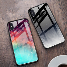 Tempered Glass Starry Sky Phone Cover For iPhone XR Xs Max X 8 7 6S 6 Plus Case Space Fashion Hard TPU Couple Full Cases