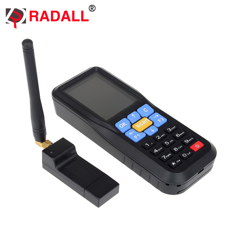 433MHz Wireless Barcode Laser Reader Terminal Inventory Data Collector Scanner 3 2 inch wireless android data terminal 1d 2d laser barcode scanner handheld data collector pos pda with bluetooth 3g wifi gps