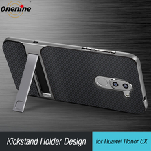 Tylna pokrywa dla Huawei Honor 6X futerał silikonowy TPU PC 360 3D stojak do telefonu Funda Honor6X GR5 2017 Mate 9 lite Mate9 Mate9Lite