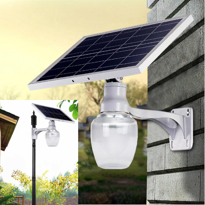 Super bright solar street lights 12V 10W solar panel power 8W LED street lamp 1000LM waterproof IP65 garden wall light