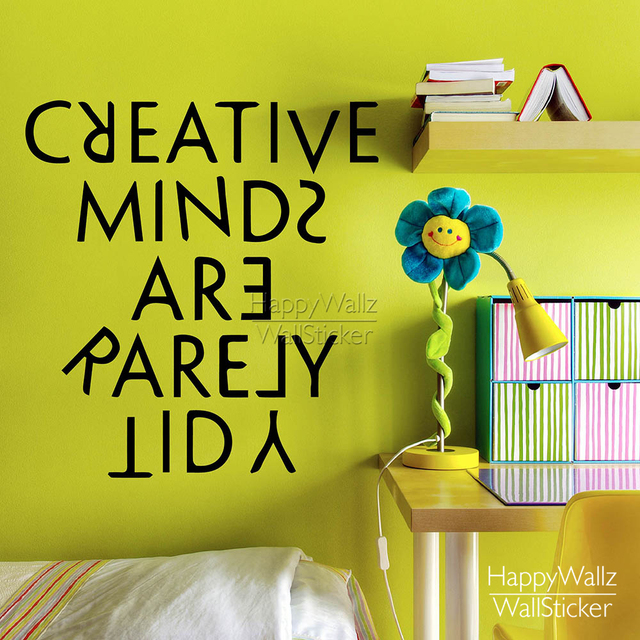 Creative Minds Are Rarely Tidy Quote Wall Sticker Inspirational ...