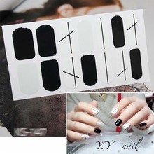 цена на Nail Stickers Fashion Full Cover Nail Polish Wraps Adhesive Nail Art Decorations Manicure Tools Environmental D01