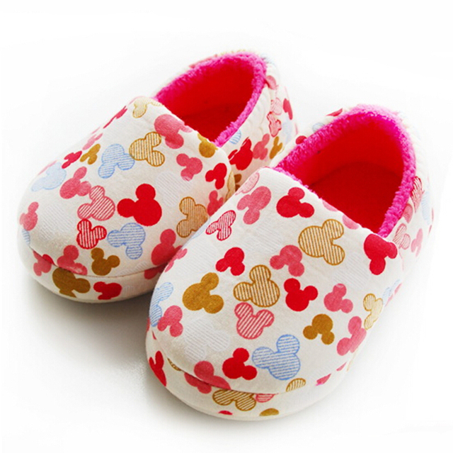 2016 autumn children slippers home child cotton padded house ...