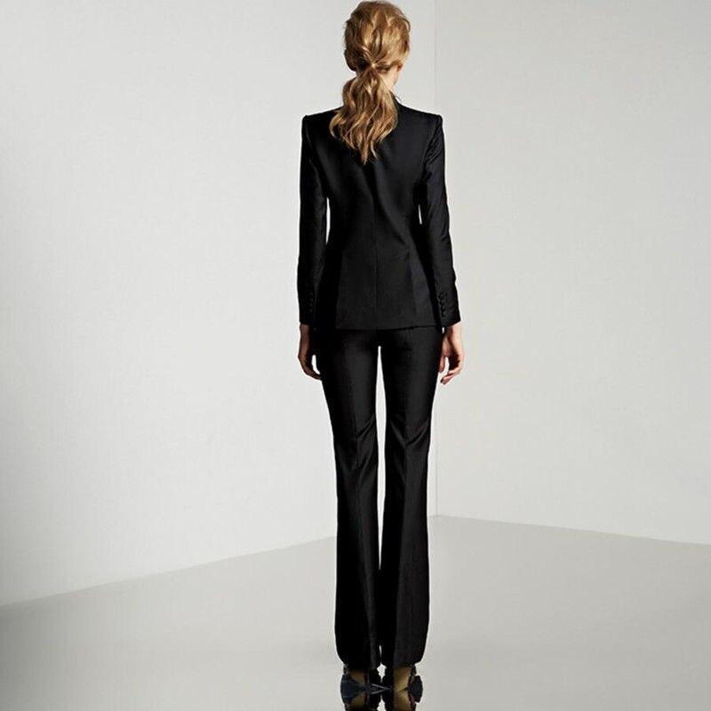 New Light Gray Womens Business Suits Female Office Uniform Ladies Trouser Suits