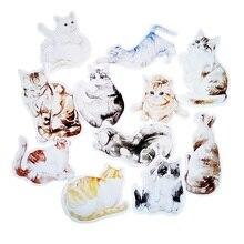 цена 30 Pcs/pack Novelty Heteromorphism Cat Postcard Christmas Birthday  Greeting Cards Lovely Cute Gift cards онлайн в 2017 году