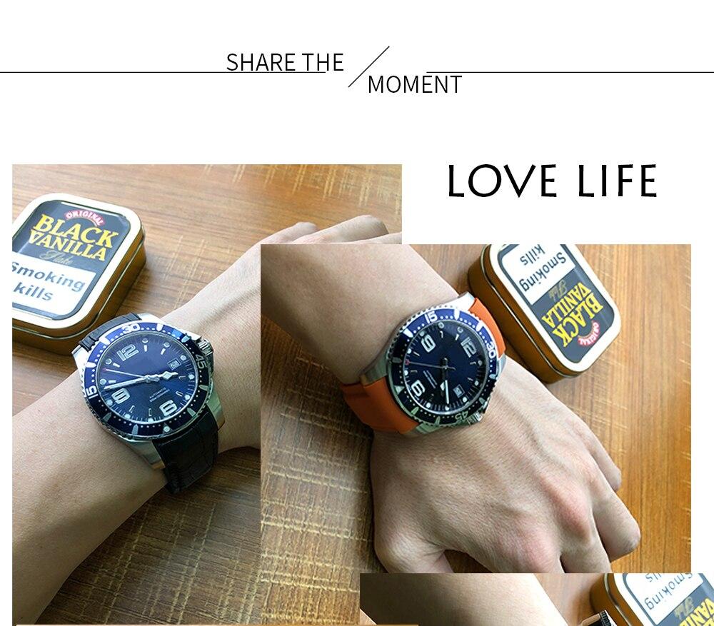 silicone pulseira de relógio com alça de