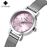 New WWOOR Top Brand Watch Women Luxury Dress Full Steel Watches Fashion Casual Ladies Quartz Watch