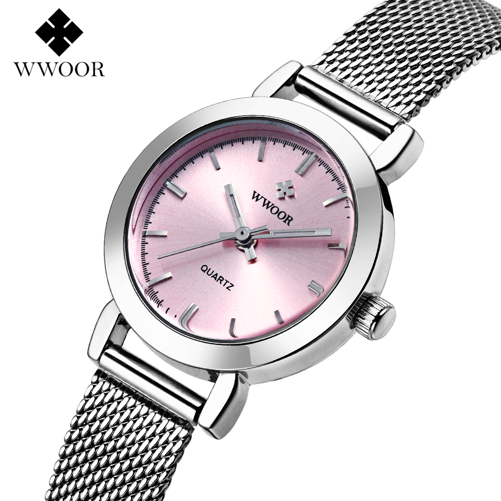 New WWOOR Top brand watch women luxury dress full steel watches fashion casual Ladies quartz watch Female table clock Wristwatch fashion creative women men watches 2017 compass needle full stainless steel quartz watch ladies dress lover wristwatch clock