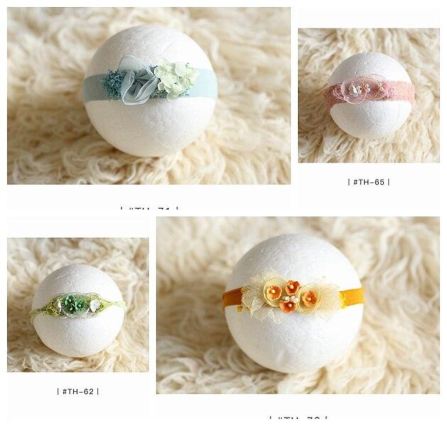 newborn headband flower headband baby girl headbands bebe newborn photography props in Hair Accessories from Mother Kids