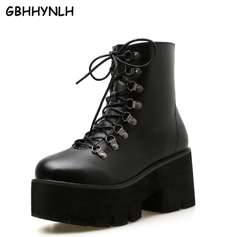 e255183a Tacones Botines Nieve Atan La Plataforma Calzado Otoño Lja454 De Negro  Señoras Gbhhynlh Botas Altos Corta Bota Para Mujeres Arriba Gruesos Zapatos  nIWdYzxvq