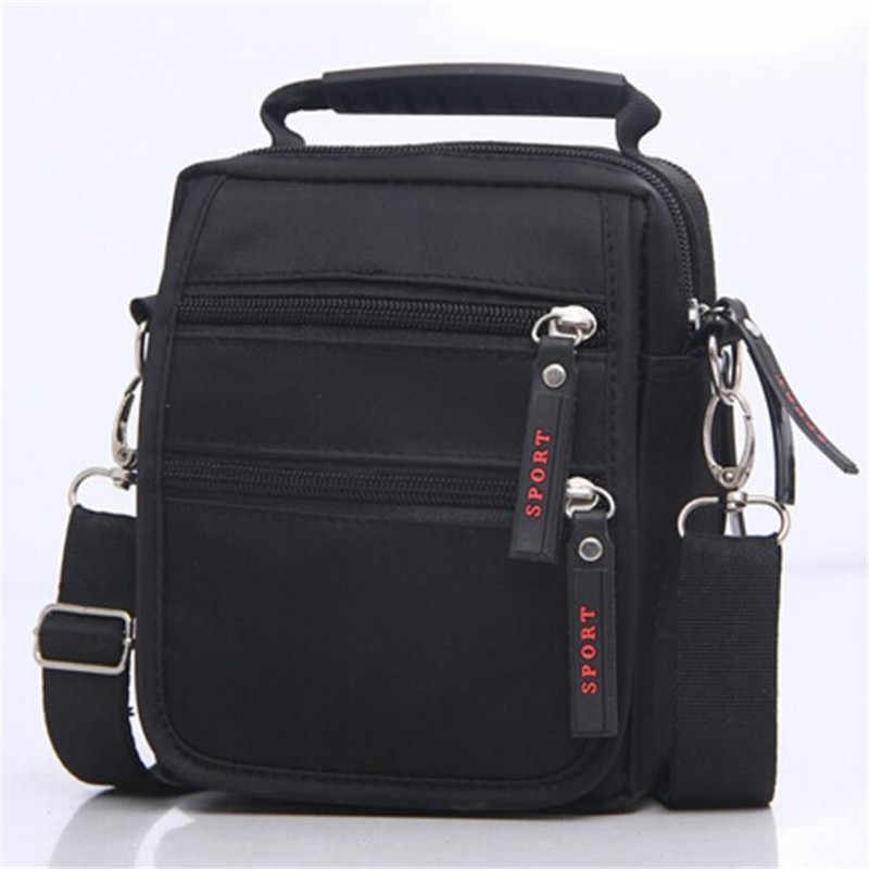 Free shipping New Shoulder Bag Messenger Bag Men  Black  Nylon Bag Messenger Small Brand Business Messenger Bags for Men