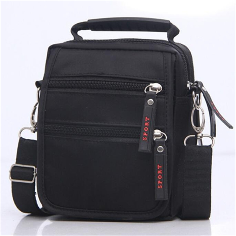 2016 New Shoulder Bag Messenger Men  Black Nylon Small Brand Business Bags for
