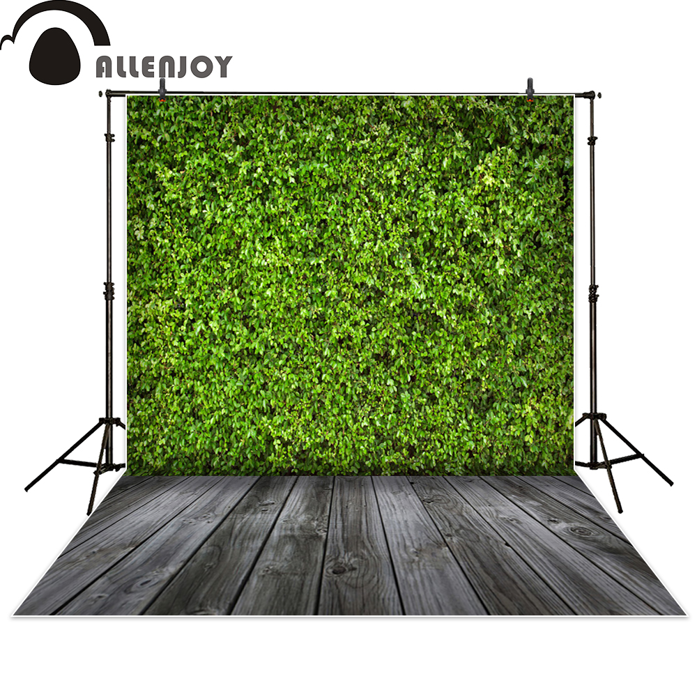 Фото Allenjoy photography backdrop green grass wall wood floor newborn photo studio photocall background original custom