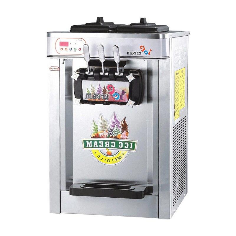 22L Ice Cream Machine Stainless Steel Ice Cream Maker 220V Commercial Ice Cream Device