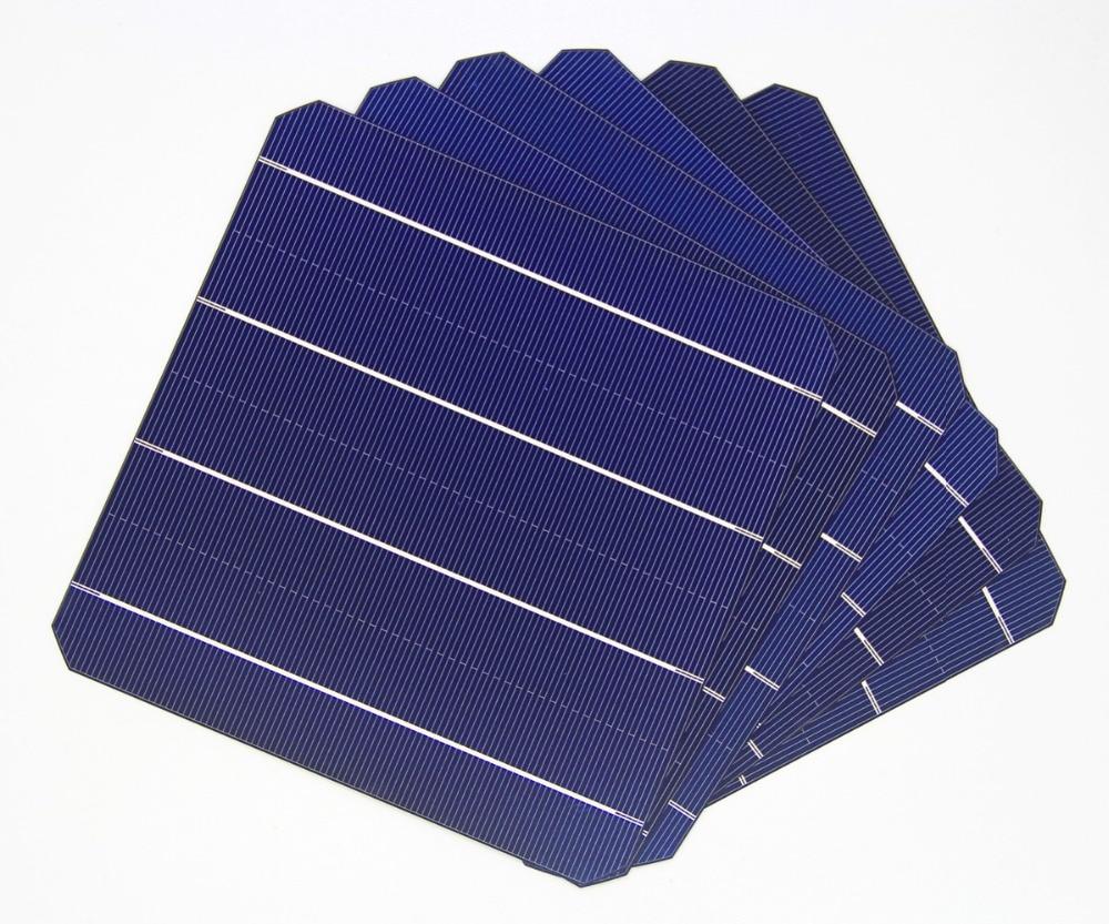 10pcs 4 8w 156 156mm Photovoltaic Mono Solar Panel Cell