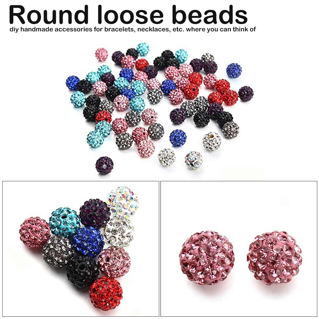 Crystal Clay Paved Crystal Bead Clay Micro Rhinestone Ball Beads DIY For jewelry making in Jewelry Findings Components from Jewelry Accessories