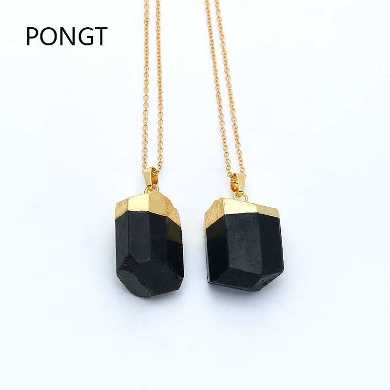 Black tourmaline <font><b>pendant</b></font> irregular <font><b>Raw</b></font> healing <font><b>Crystal</b></font> Necklace black stone <font><b>pendant</b></font> druzy jewelry natural chakra stone <font><b>pendant</b></font> image