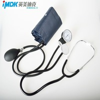 1 X ערכת מכשיר מדד לחץ דם קאף סטטוסקופ מד לחץ דם אנארוידי שימוש ביתי לחץ דם מד לחץ דם ידני
