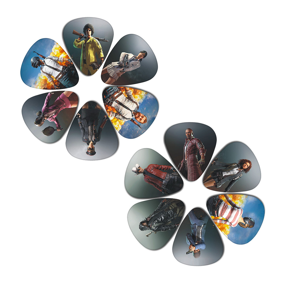SOACH 10pcs 3 Kinds Of Thickness New Guitar Picks Bass Most Popular Games Pictures Print Pick Guitar Accessories