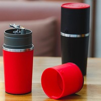 Ewold 수동 커피 메이커 핸드 압력 휴대용 에스프레소 머신 커피 프레스 병 포트 커피 도구 야외 여행 사용|coffee maker|manual coffee makerespresso machine -