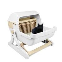 Очень большая домашняя кошка полуавтоматическая полузакрытая коробка для кошачьего туалета тренировочный комплект с песочницей постельн