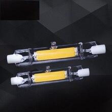 10pcs/lot glass R7S led light 5W 78mm 10W 118mm COB RX7S lamp J118 J78 led halogen bulb 360 degree angle AC220-240V
