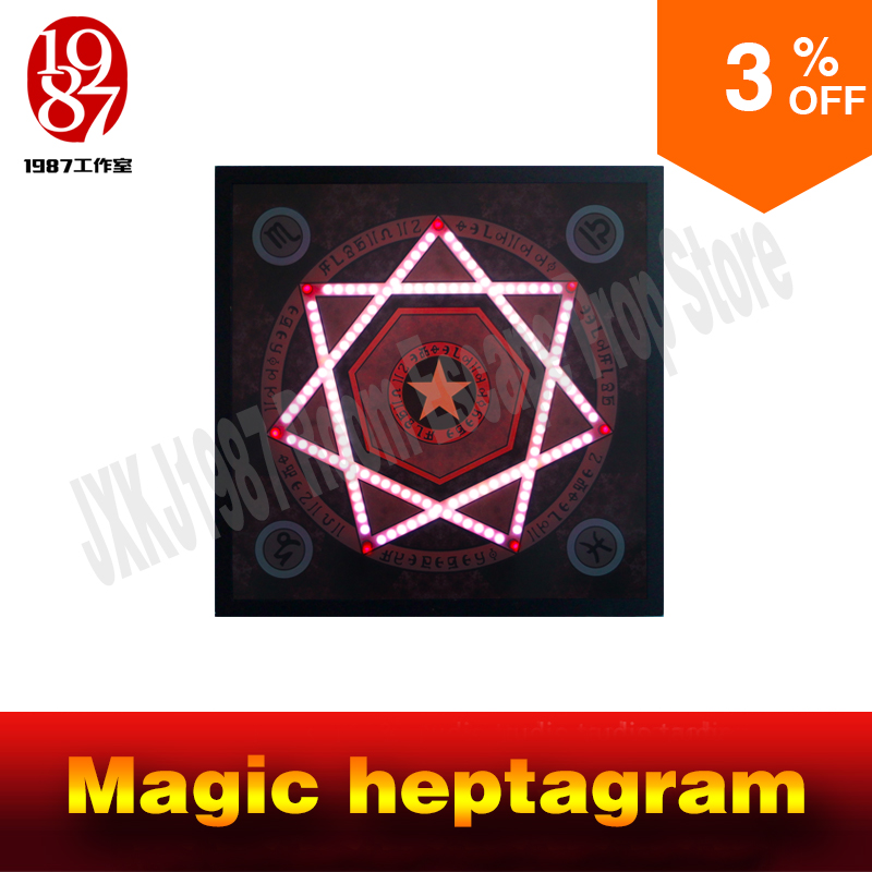 Room escape prop real life adventure game Magic heptagram touch the sensible points in correct sequence