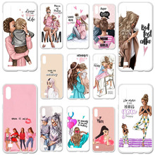 Phone Cases For Samsung m10 Case Samsung Galaxy M10 M105 M105F SM-M105FD 6.22 Silicone Cover Black Brown Hair Baby Mom Girl 3d diy silicone case for samsung m10 case cover for samsung galaxy m10 m105 m105f sm m105fd back cover soft tpu phone bumper