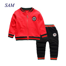2019 new children boys clothing sets kids cotton sets spring autumn boy outfit 3pcs sports