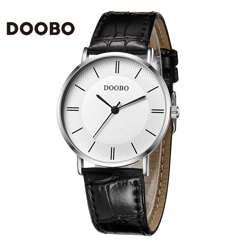 2016 Super Slim DOOBO Casual Men Watch Brand Quartz W *