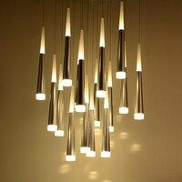 LED Meteor Rain Meteoric Shower Pendant Lamp Dining Room Stair Bar Droplight Modern Simplism Style Chandelier