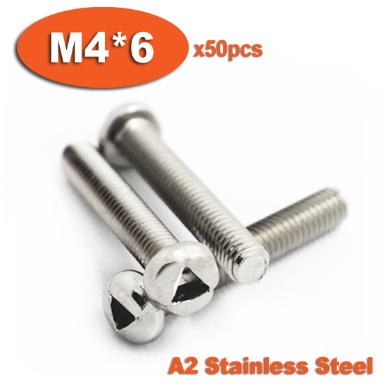 50pcs DIN7985 M4 x 6 A2 Stainless Steel Triangle Slot Pan Head Tamper Proof Security Screw Screws