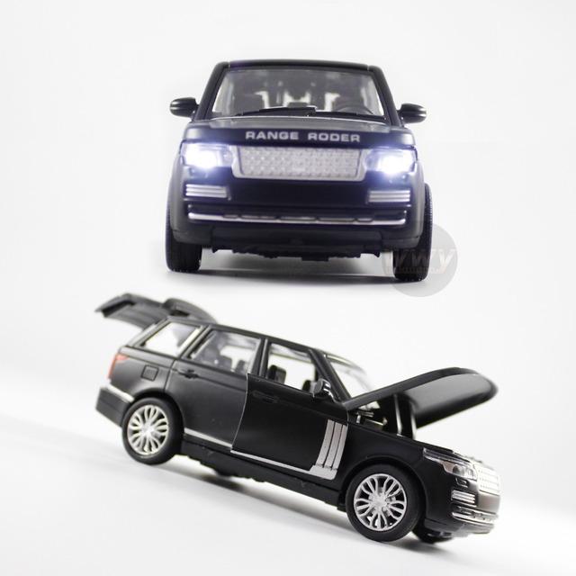 Alta Simulación Land-Rover Tire Hacia Atrás/Luz y Sonido Mini Coche Die-cast 1/32 Escala Del Coche Juguetes