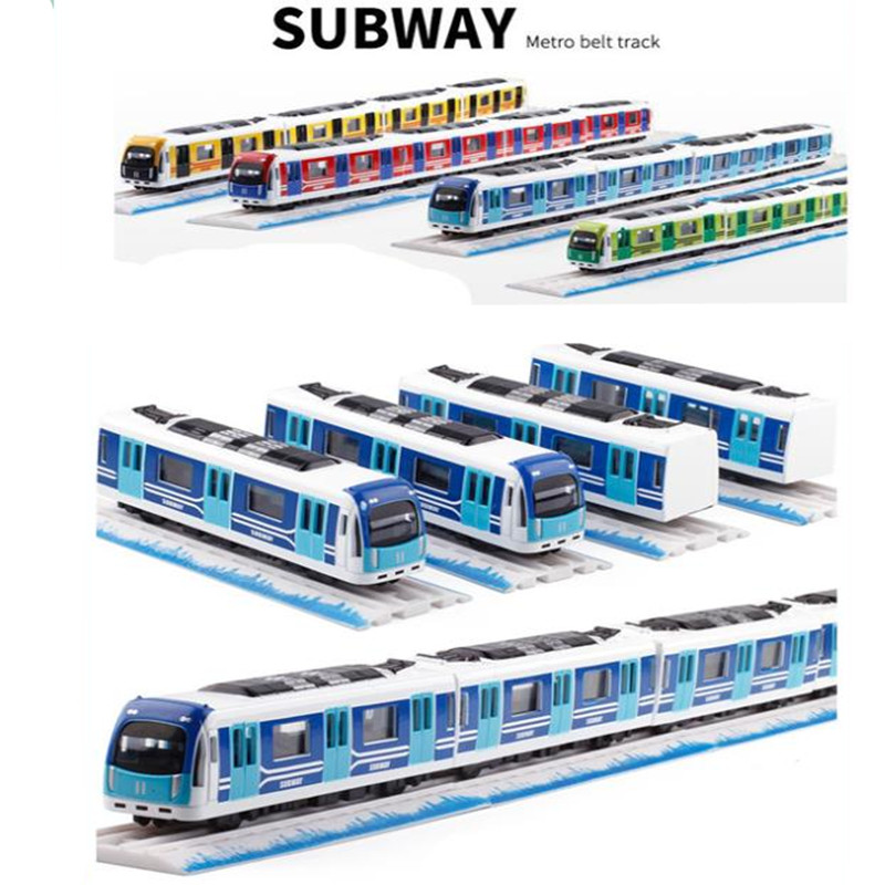 1:87 Magnetic Pull Back Alloy Subway,Metro Track Train,Alloy Model Toys,Wholesale, Hot, Free Shipping