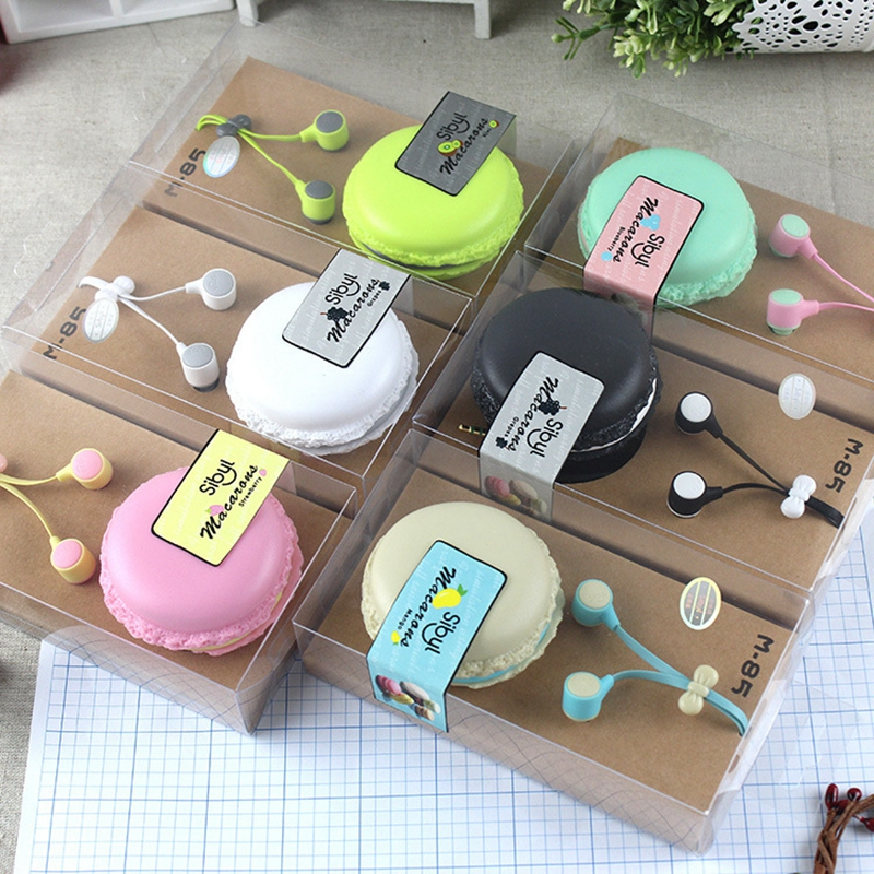 Ollivan M 85 Macarons Bowknot Earphone Candy Colors Ear Hook M85 Earbud In Ear Headset with