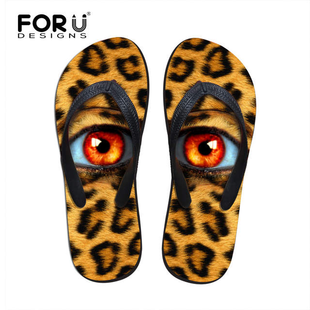cdcc1185155d6f placeholder FORUDESIGNS 3D Big Green Eyes Design Women s Summer Casual  Sandals Fashion Rubber House Slippers for Ladies