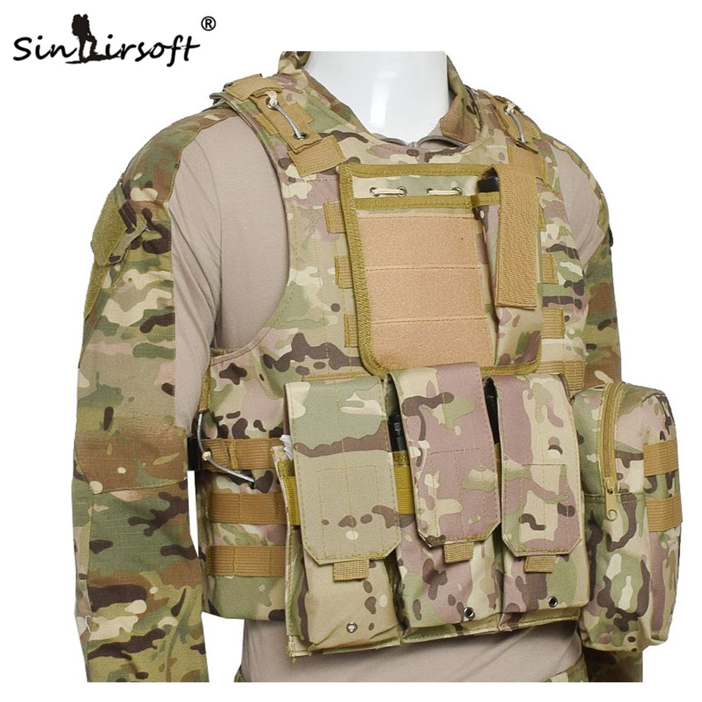 SINAIRSOFT Professional sales USMC Airsoft Tactical Military Molle Combat Assault Plate Carrier Vest Tactical vest 10 Colors