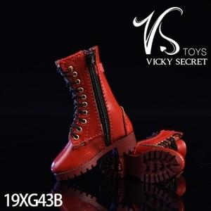 Image 5 - 3 צבע 1/6 סולם נשי רוכסן מגפי נעליים חלולות עבור 12 סנטימטרים פעולה דמויות