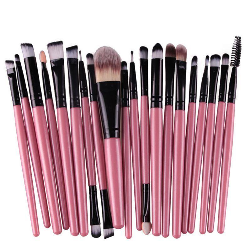 20pcs Make Up Powder Cosmetic Brushes Tools Eyeshadow Eyeliner Brush Set pincel maquiagem makeup brushes
