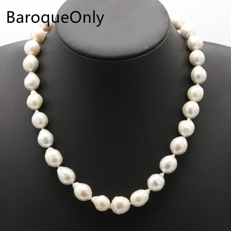 BaroqueOnly Super Flash Buckle Baroque Pearl Choker Necklace Pearl Length 13-16mm,pearl Width 10mm Real Natural Freshwater PearlBaroqueOnly Super Flash Buckle Baroque Pearl Choker Necklace Pearl Length 13-16mm,pearl Width 10mm Real Natural Freshwater Pearl