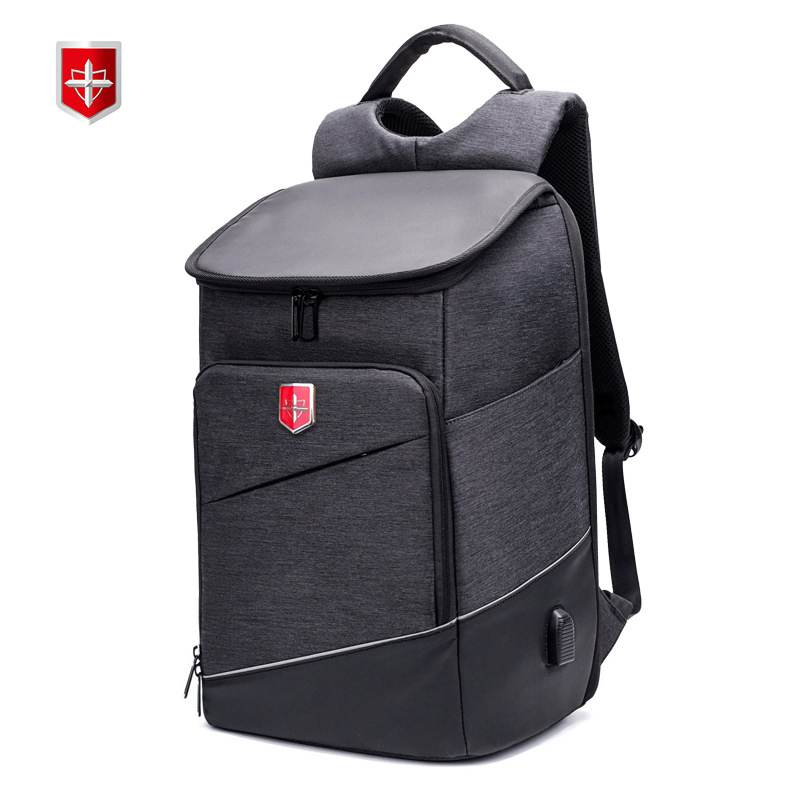 New Men's Backpack Swiss USB Charge 15inch Laptop Backpacks For Teenager Fashion Mochila Women Leisure Travel bagpack anti thief-in Backpacks from Luggage & Bags    1