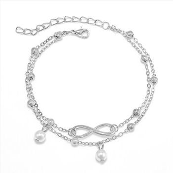 Bohemian Elegant Women's Imitation Pearl Anklet Foot Bracelet Barefoot Sandals Chain Strap Beach Accessories Jewelry For Women 5