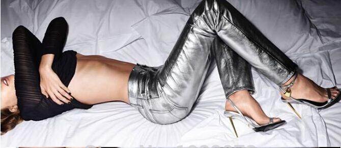 ФОТО Summer Charming Decent Women Sandal Shoes Metal Ankle-lock Gold Stiletto Heel Sandals Designer Summer Style Shoes Drop Ship