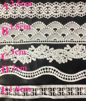 1.8-3.5cm top quality milk fibre polyester embroidery lace trim,LH180903B