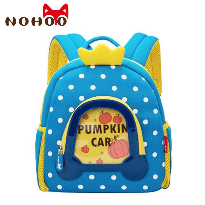 NOHOO Toddler Kids Backpack 3D Princess Pre School Bags Children School Backpacks Kindergarten Kids Bags