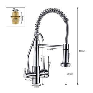 Image 5 - Mitigeur avec filtre à eau pour la cuisine, evier mélangeur, robinet de cuisine à trois voies WF 0192